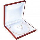 """Designer"" Jewelry Set Box in Coral & Diamond (2-Pc. Packer)"