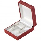 """Designer"" Small Drop Earring Box in Coral & Diamond (2-Pc. Packer)"