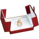 """Designer"" 2-Door Ring Clip Box in Coral & Diamond (2-Pc. Packer)"