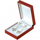 """Designer"" Medium Drop Earring Box in Coral & Diamond (2-Pc. Packer)"