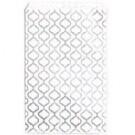"Silver Trellis Design Paper Gift Bag - 6"" x 9"""
