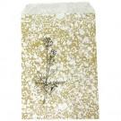 """Gold Flower Design Paper Bag - 4.5"""" X 6"""""""
