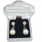 "A&A ""Crystal Acrylics"" Drop Earring Boxes in Onyx, 1.88 x 1.88 in."