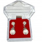 "A&A ""Crystal Acrylics"" Drop Earring Boxes in Crimson, 1.88 x 1.88 in."