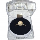 "A&A ""Crystal Acrylics"" Round Cushion Ring Slot Boxes in Onyx, 1.88 x 1.88 in."