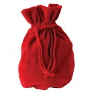 "Fine Italian Red Suede Pouch (Inside & Outside) 2"" x 3.25"""