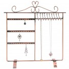 18 Pair Earrings 10 Necklaces Display Stand