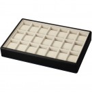 "21-Cushion Watch Trays in Sandstone & Onyx, 17.5"" L x 12.25"" W"