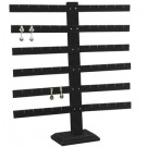 "36-Pair Multi-Level Earring Stands in Jet, 14.13"" L x 2"" W"