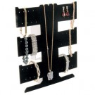 """3-Level Multi-Function Jewelry Combination Easels in Jet, 9"""" W x 10"""" H"""