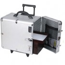"Aluminum Rolling Cases w/Side Access (Holds 12 1"" H Standard Trays), 16.38"" L x 10.5"" W"