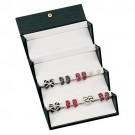 16 Pair Earrings with Tube Folding Box w/Carbon Fiber Pattern Finish