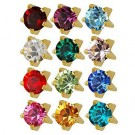 Studex R-113Y Ear Piercing Tiffany Assorted Studs - Gold Plated
