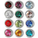 12-Month Color Birthstones Studs Assorted 12 Pk Caflon R213W
