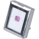 Plastic Gemstone Box - Chrome Finish with Reversible Foam Inserts (White/Black)