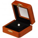 Gem Display Box - Beech Wood Finish w/ Reversible Inserts White/Black