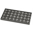 "32-Pair Hoop Earring Trays in Palladium, 14"" L x 7.5"" W"