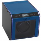 Single (1) Programmable Watch Winder Blue Aluminum w/ LED Illumination