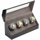 "Diplomat ""Victoria"" 4-Watch Winder in Onyx & Charcoal"