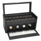 "Diplomat ""Modena"" 4-Watch Winder in Carbon Fiber"