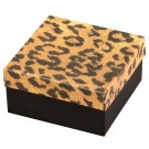 "Leopard Cotton Filled Box 3 3/4"" x 3 3/4"" x 2"""