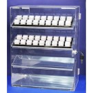 "4-Level Acrylic Showcases w/Removable Shelves, 13.5"" L x 7.38"" W"