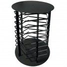 5 Sided Black Revolving Earring Stand