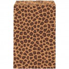 Paper Gift Bags in Brown Leopard Print, 6 x 9 in.