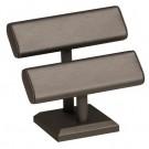 Oval Bar T-Bar Display - Steel Grey