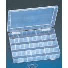 Plastic Frosted Organizer Display w/12 Adjustable Dividers