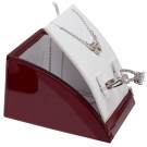 Combo Display - Rosewood Base w/ White Faux Leather