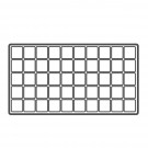 "50-Compartment Plastic Inserts for Full-Size Utility Trays in White, 14.13"" L x 7.63"" W"