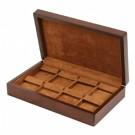 "8-Pair Drop Earring Cases in Teak & Cocoa, 10"" L x 6"" W"