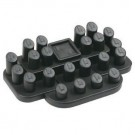 24-Ring Clip Set - Black Faux Leather