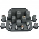 18-Pcs. Ring Slot Set  - Steel Grey w/Black Faux Leather Trim