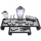 17 Piece Set Display Set in Steel Gray Faux Leather