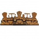 35-Piece Combination Jewelry Display Set in Chestnut & Umber