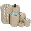 6 - Pc. Nested Riser Stackable Set Burlap