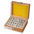 Fancy Shape Disc Cutter with 24 Dies in Wooden Box