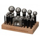 "23 Piece Dapping Punch Set with 2.5"" Block"