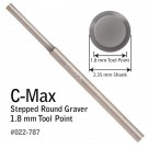 GRS 022-787 C-Max Carbide Round Step Graver 1.8 MM