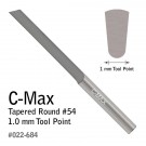 GRS 022-684 C-Max Carbide Graver Tapered Round #54 1.0 MM
