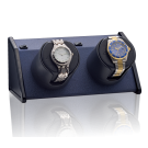 "Orbita ""Sparta Bold"" Self-Programming Double Watch Winder in Royal Blue"