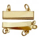 2-Strand Pearl Clasp, 14k Yellow Gold
