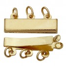 3-Strand Pearl Clasp, 14k Yellow Gold