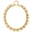 Oval Bezel For Camios-Filigree, 25.0 x 18.0
