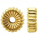 14k Yellow Corrugated Roundel