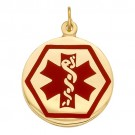 14k Yellow Medic Aid Medallion, 18.5 mm