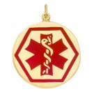 14k Yellow Medic Aid Medallion, 25.2 mm