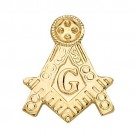 14k Yellow Masonic Emblem w/ Tube
